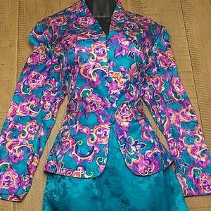 NWOT! Adrianna Papell 100% Suit Set Gorgeous Sz 14